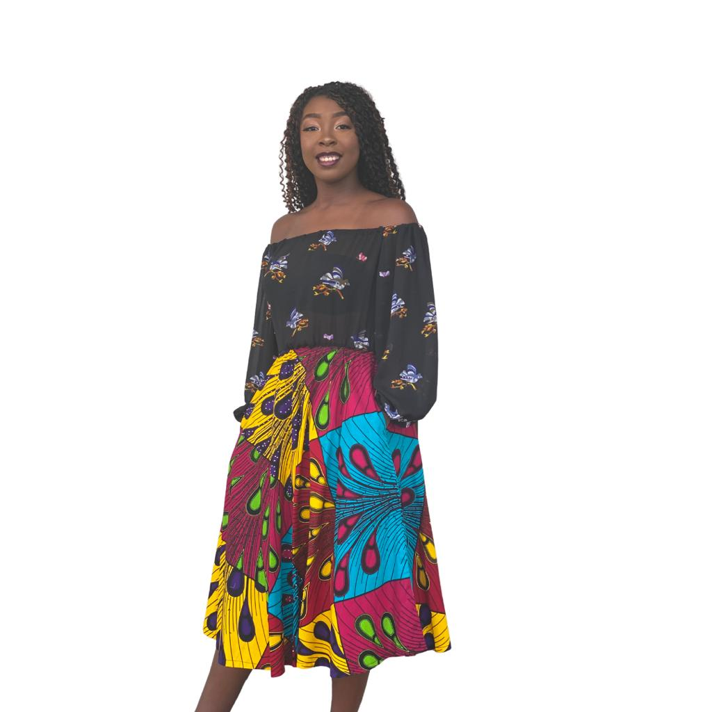 Multicolored Afro Dress
