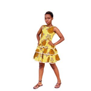 Bright and Sunny Ankara Dress